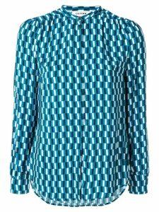Cefinn geometric print shirt - Blue