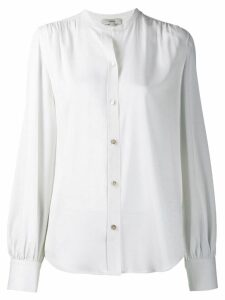 Vince long-sleeve fitted blouse - White