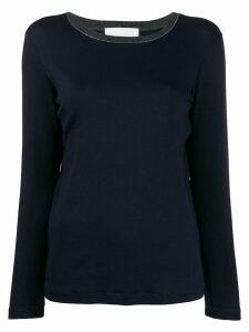 Fabiana Filippi contrast collar jumper - Blue