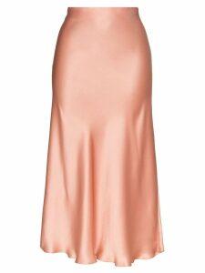 Le Kasha mid-length slip skirt - PINK