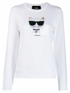 Karl Lagerfeld Karl Cat jumper - White