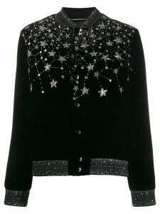 Saint Laurent crystal embroidered cardigan - Black