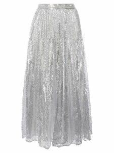 Huishan Zhang Setila sequinned pleated skirt - Silver