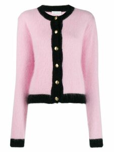 Chiara Ferragni black trim knitted cardigan - PINK