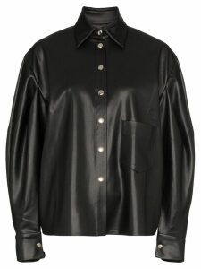 Anouki balloon-sleeve shirt - Black