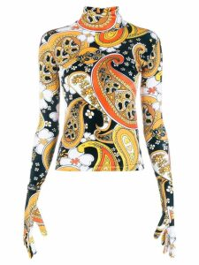 Richard Quinn paisley print sweater - Black