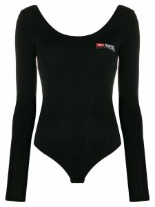 Diesel Long-sleeve body with logo print - Black