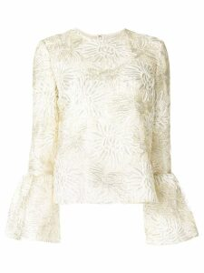 Huishan Zhang Silvie floral embroidery blouse - White