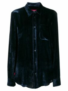 Sies Marjan button-down velvety shirt - Blue