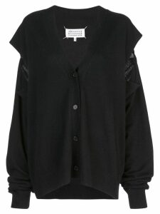 Maison Margiela cut-out knitted cardigan - Black