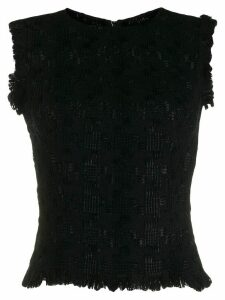 Ermanno Scervino sleeveless fringed top - Black