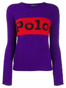 Polo Ralph Lauren Polo cable knit jumper - PURPLE