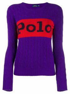 Polo Ralph Lauren Polo cable knit jumper - Purple