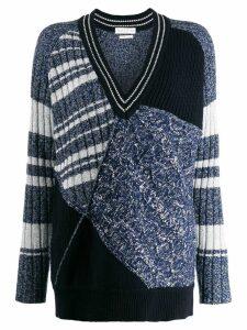 Ballantyne colour blocked jumper - Blue