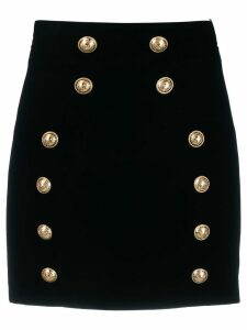 Balmain button detail mini skirt - Black