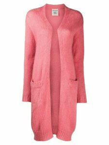 Semicouture long knit cardigan - PINK