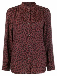 A.P.C. leopard print blouse - Brown