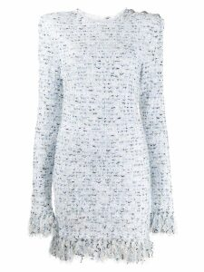Balmain tweed mini dress - White
