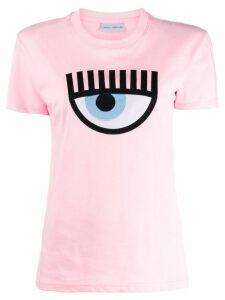 Chiara Ferragni embroidered signature eye T-shirt - PINK
