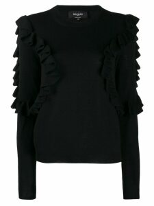 Rochas sweatshirt with frill trim - Black