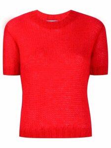 Prada short-sleeve knitted sweater - Red