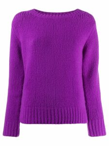 Fabiana Filippi bead panel jumper - PURPLE