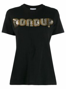 Dondup sequin embroidered T-shirt - Black