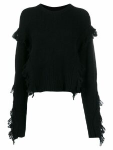 3.1 Phillip Lim fringe-trimmed jumper - Black
