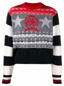 Tommy Hilfiger intarsia-knit jumper - Black