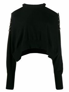 Diesel cold-shoulder sweater - Black