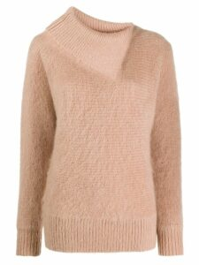 Zimmermann Espionage folded neck jumper - NEUTRALS