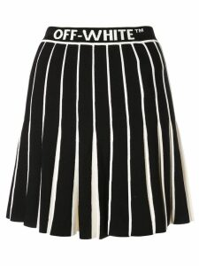 Off-White contrasting pleated skirt - Black