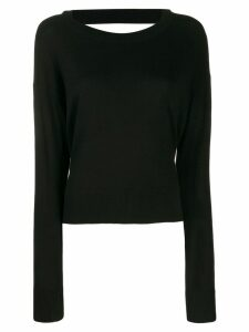 Diesel side-slit sweater - Black