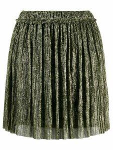 Isabel Marant Étoile micro pleated mini skirt - GOLD