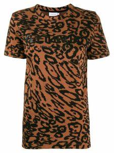 Calvin Klein leopard piqué T-shirt - Brown