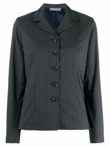 Molly Goddard pinstriped fitted jacket - Blue