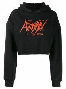 Misbhv cropped logo hoodie - Black