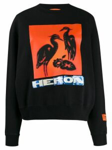 Heron Preston logo print sweatshirt - Black