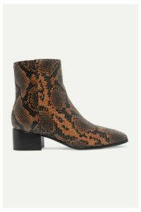 rag & bone - Aslen Snake-effect Leather Ankle Boots - Snake print