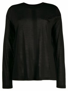 Tom Ford long sleeve knitted top - Black