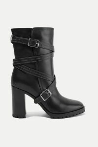 Gianvito Rossi - 90 Buckled Leather Ankle Boots - Black