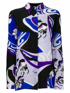 Emilio Pucci Zaffiro Peonia print silk shirt - Purple
