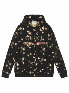 Gucci stars and moon print hoodie - Black