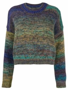 Roberto Collina sparkle-knit sweatshirt - PURPLE