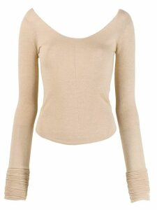 Lemaire scoop neck knit top - Neutrals