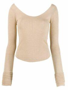 Lemaire scoop neck knit top - NEUTRALS