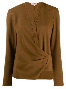 Tibi draped front shirt - Brown
