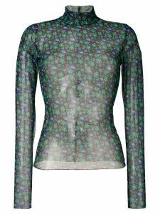 Henrik Vibskov floral print mesh top - Green