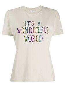Alberta Ferretti front print t-shirt - NEUTRALS