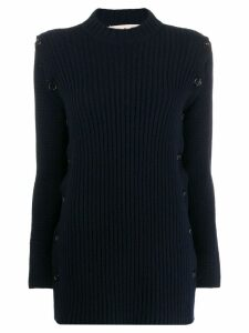 Marni side button detail jumper - Blue
